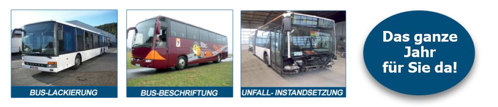 Bus-Instandsetzung, Lackierung und Beschriftung  im Raum Trier..